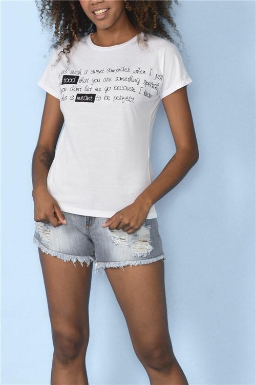 Blusa To Be Perfect - Branco Tamanho: P