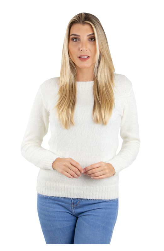 Blusa Tricot Angorá Confort - Off Off-White