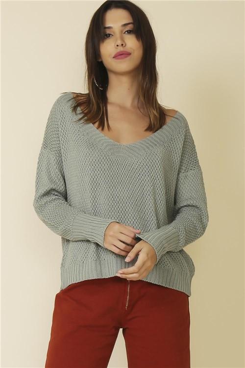 Blusa Tricot Basic - Verde Tamanho: M