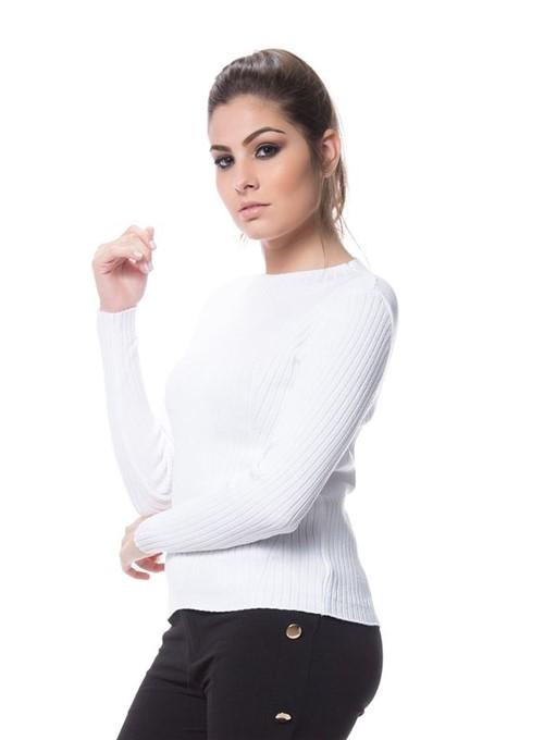 Blusa Tricot de Modal Branco