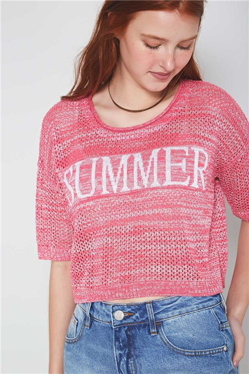 Blusa Tricot Summer Rosa Bloon - P