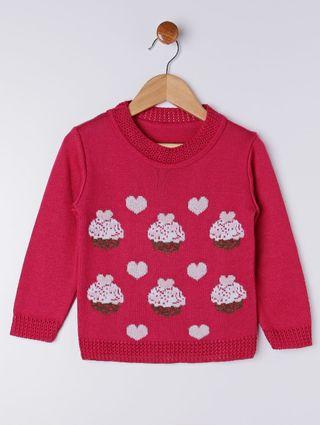 Blusão Infantil para Menina - Rosa Pink