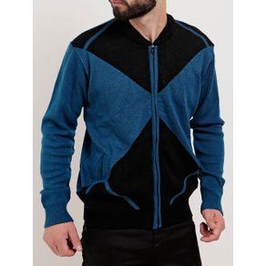 Blusão Masculino Azul/preto P