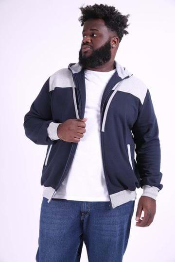 Blusão Masculino com Bolso Plus Size Azul Marinho P