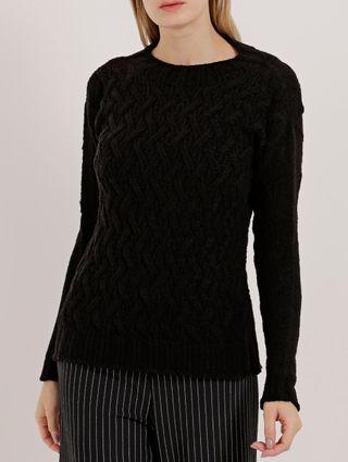 Blusão Tricot Feminino Preto