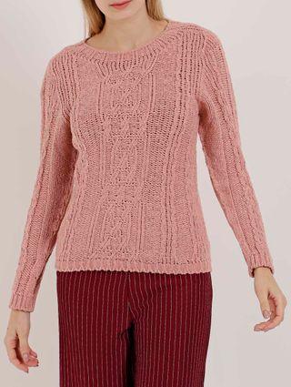 Blusão Tricot Feminino Rosa