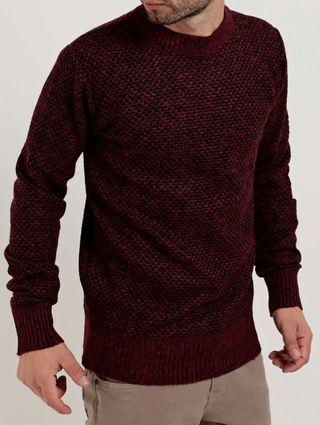 Blusão Tricot Masculino Bordô
