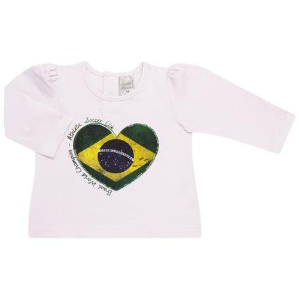 Blusinha Manga Longa para Bebe em Cotton Brasil - Baby Classic