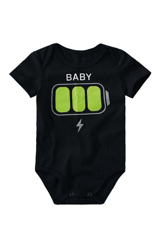 Body Baby Unissex Malwee Kids Preto - G