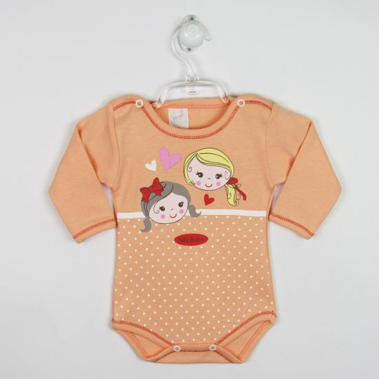 Body Bebê Feminino Manga Longa Salmão -RN