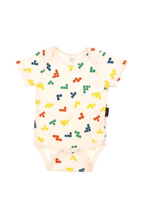 Body Bebê Manga Curta Tetris G - CRU