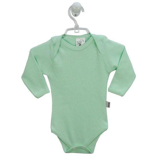 Body Bebê Masculino Manga Longa Verde-G