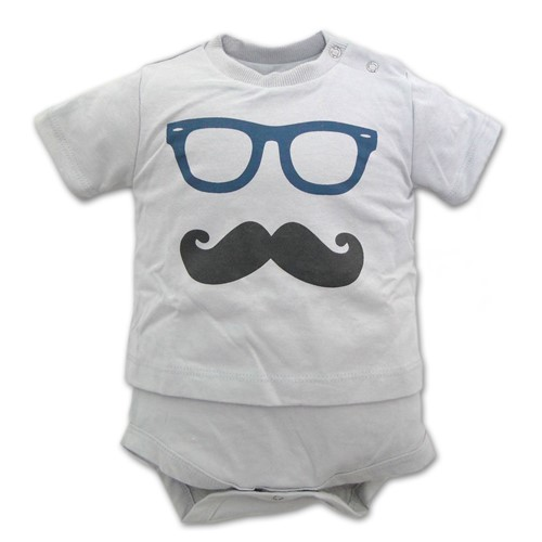 Body Bigode Mustache Tamanho M