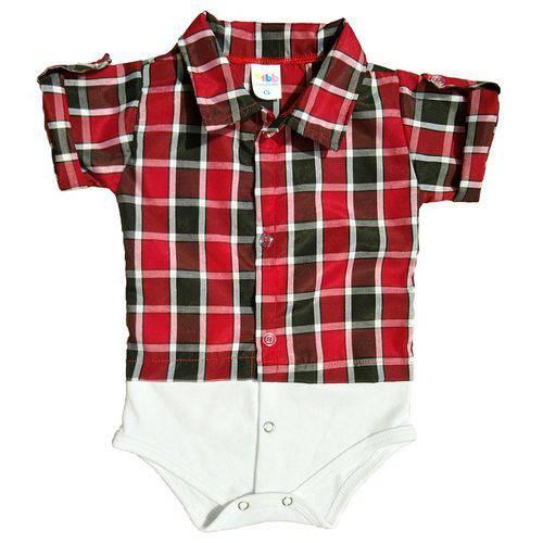 Body Camisa Manga Curta - +1bb - Xadrez Malbec