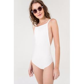 Body Canelado Retro Off White - P