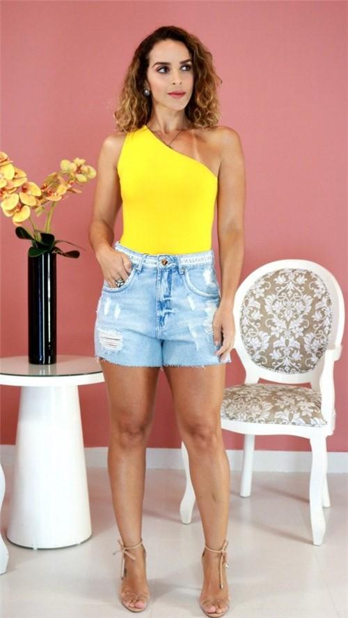 Body Farm Ombro Único Amarelo PV20 276769