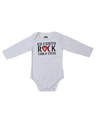 Body Flik Infantil para Bebê - Cinza