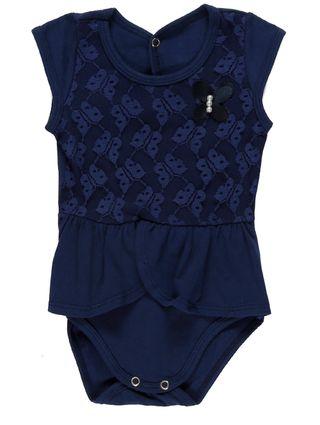 Body Infantil para Bebê Menina - Azul Marinho