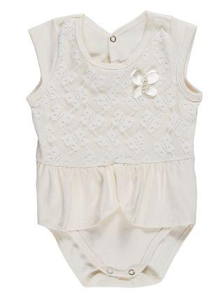 Body Infantil para Bebê Menina - Bege