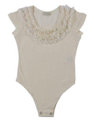 Body Infantil para Menina - Bege