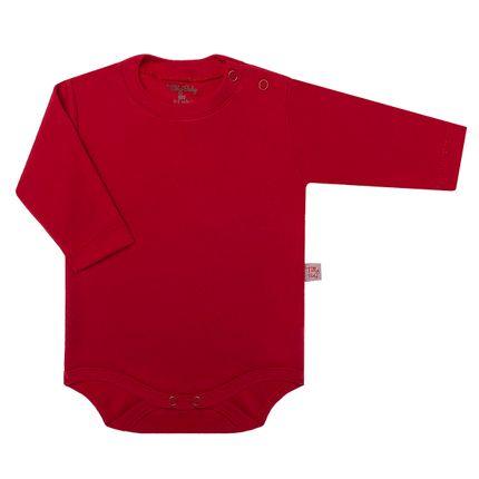 Body Longo para Bebê em Suedine Vermelho - Tilly Baby