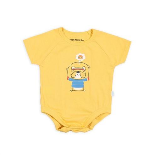 Body M/c Doguinho Fit Amarelo/3 a 6 M