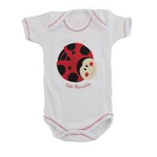 Body Manga Curta Bebê Menina Joaninha Feliz | Doremi Bebê