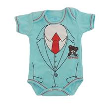 Body Manga Curta com Estampa de Gravata   Doremi Bebê