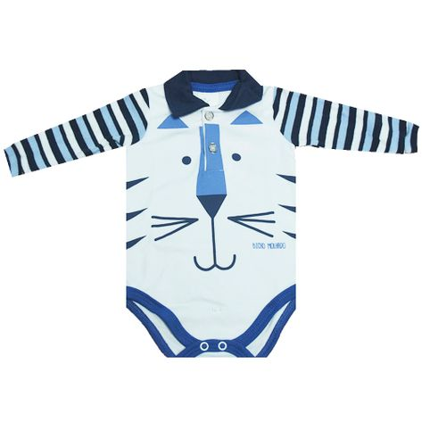 Body Manga Longa Tigre Branco P