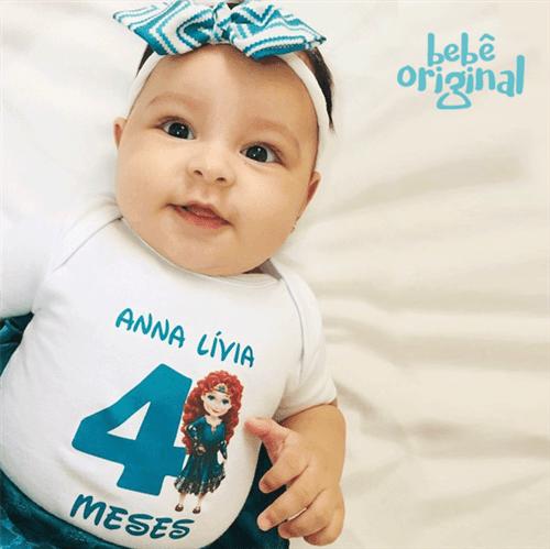 Body Mesversario Avulso Princesas Baby com Nome