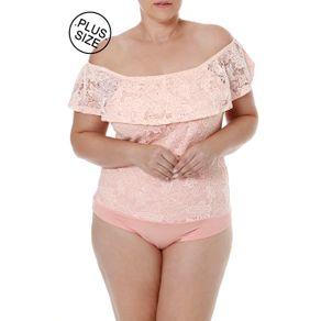 Body Plus Size Feminino Autentique Rosa G1