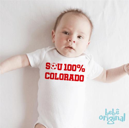 Body Sou Colorado 100% Algodão, Branco Curta P