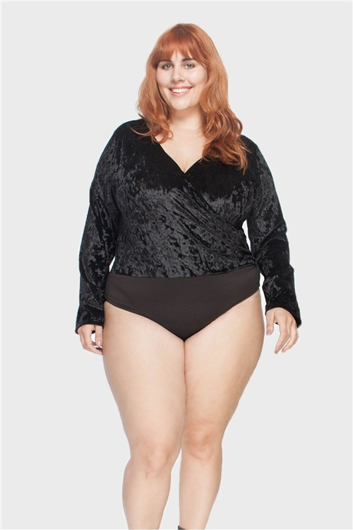 Body Veludo Plus Size Preto-48