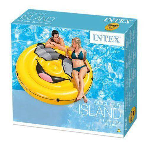 Bóia Ilha Inflável para Piscina Emoji 57254 Intex