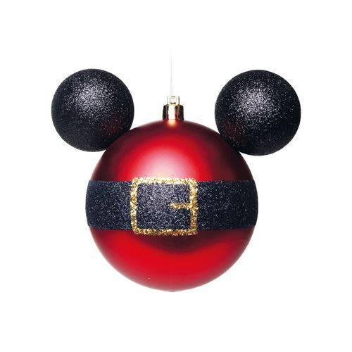 Bola Árvore Natal Disney 10Cm C/ 2 Pçs Vermelha