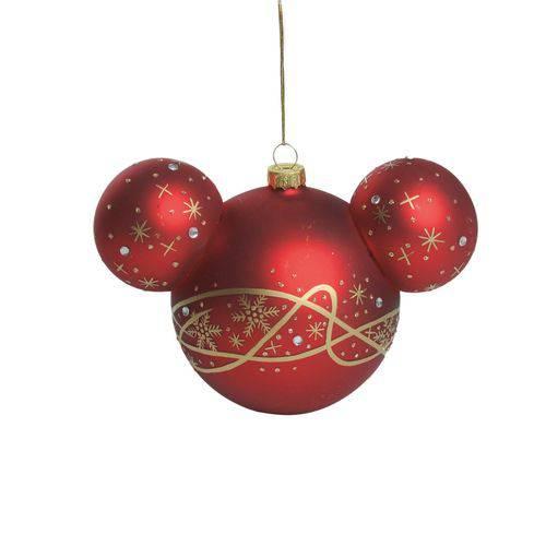Bola Árvore Natal Magica 9Cm C/ 2 Pçs Vermelha