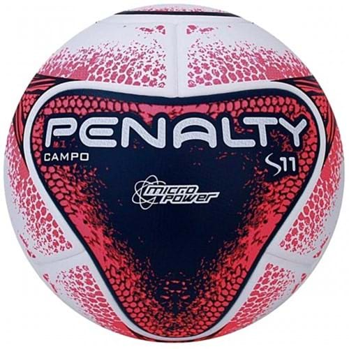 BOLA CAMPO PENALTY S11 R2 8 - Branco/Rosa/Azul - Compre Agora | Radan Esportes