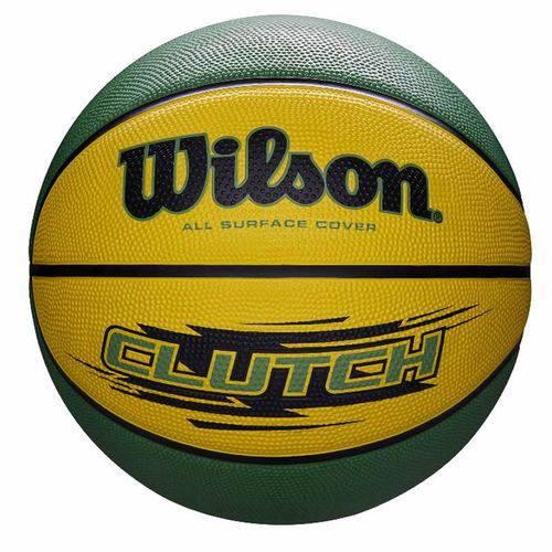 Bola de Basquete Clutch N.7 Amarelo e Verde Wilson