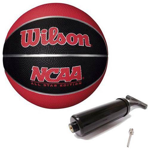 Bola de Basquete Ncaa Mini Vermelha N°3 Wilson