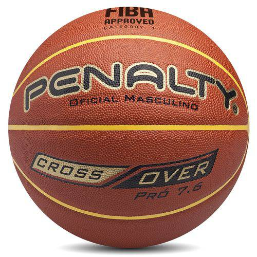 Bola de Basquete Oficial CROSSOVER PRÓ 7.6 - Penalty - Marrom