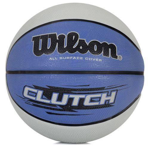 Bola de Basquete Wilson Clutch 295 7 Azul e Cinza