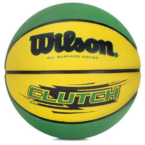Bola de Basquete Wilson Clutch 295 7 Verde e Amarela