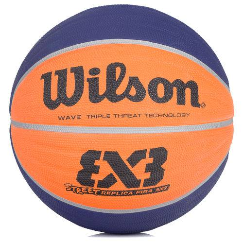 Bola de Basquete Wilson Street Réplica Fiba 3x3 Azul e Laranja