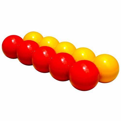 Bola de Bilhar Mata-mata Alto Brilho 54 Mm 10 Peças Profissional Aramith Belga Amarelo X Vermelho