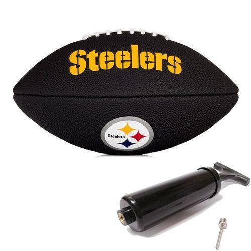 Bola de Futebol Americano Black Nfl Team Logo Jr Steelers Wilson