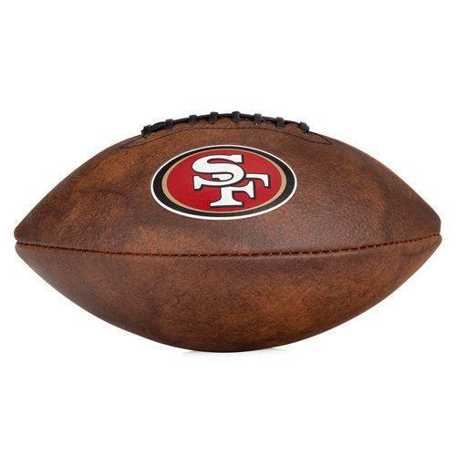 Bola de Futebol Americano Wilson Nfl Jr Throwback Team Logo San Francisco Marrom