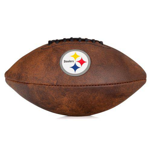 Bola de Futebol Americano Wilson Nfl Jr Throwback Team Logo Steelers de Pittsbuch Marrom