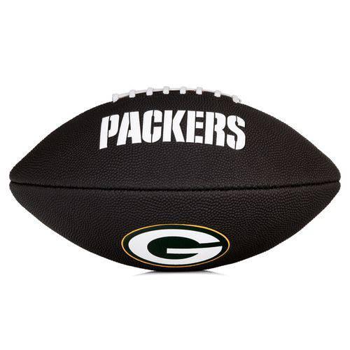 Bola de Futebol Americano Wilson Nfl Team Logo Jr Green Bay Packers - Edition Black