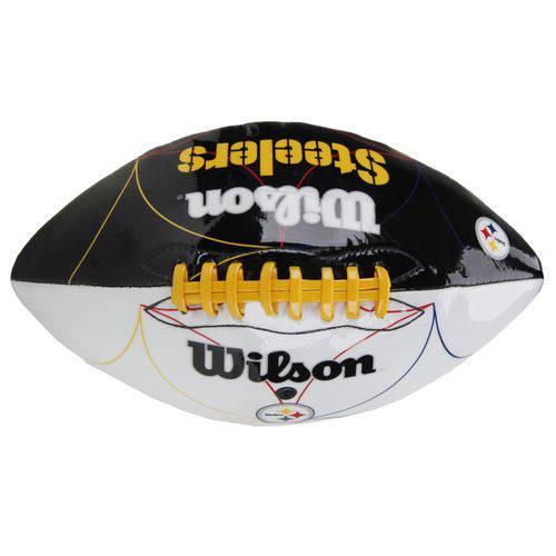 Bola de Futebol Americano Wilson Nfl Team Logo Jr - Pittsburgh Steelers (tpu)