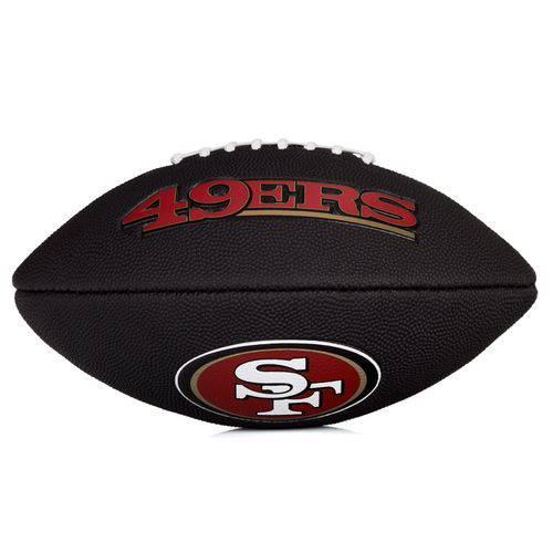 Bola de Futebol Americano Wilson Nfl Team Logo Jr San Francisco - Edition Black